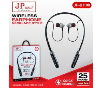 JP Gold B1100 Wireless Earphone Necklace Style