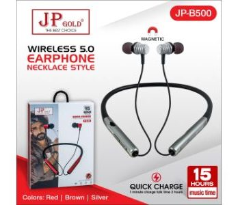 JP Gold B500 Wireless 5.0 Earphone Necklace Style