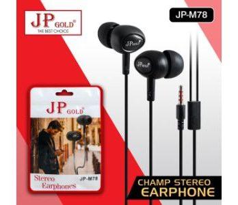 JP Gold Champ Stereo Earphone
