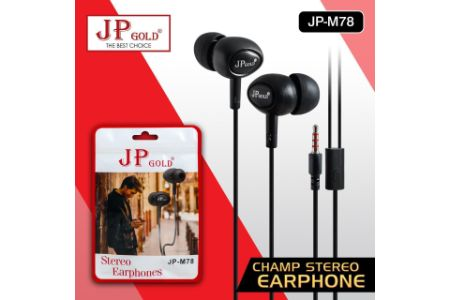 JP Gold Champ Stereo Earphone