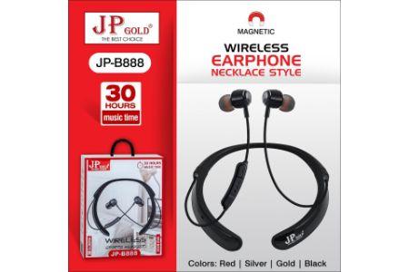 JP Gold JP-B888 Wireless Magnetic Earphone Neckplace Style