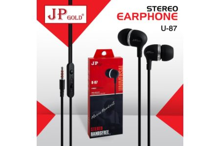 JP Gold U-87 Stereo Earphone