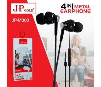 JP Gold 4in1 Metal Earphone