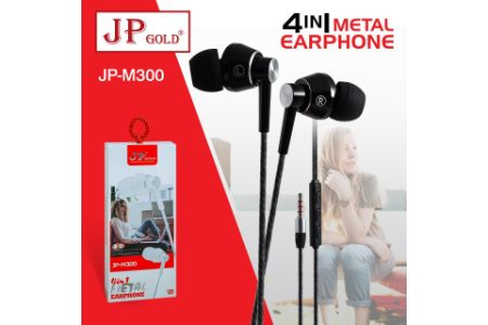 JP Gold 4in1 Metal Earphone