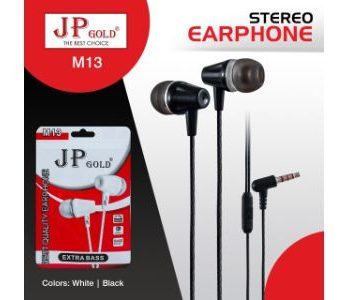 Jp-Gold-M13-Stereo-Earphone