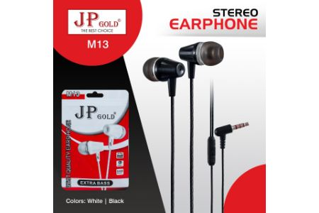 Jp-Gold-M13-Stereo-Earphone