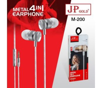JP Gold M 200 Metal 4in1 Earphone